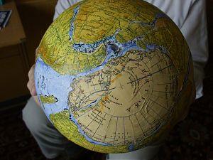 Südamerika und Südafrika passgenau zusammen mit der Antarktis